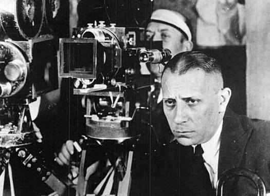 Reynolds and von Stroheim shooting Greed (1924)