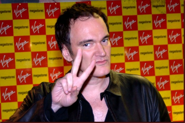 Pic by Colin Lane...Film Director Quentin Tarantino at Virgin in Clayton Square.