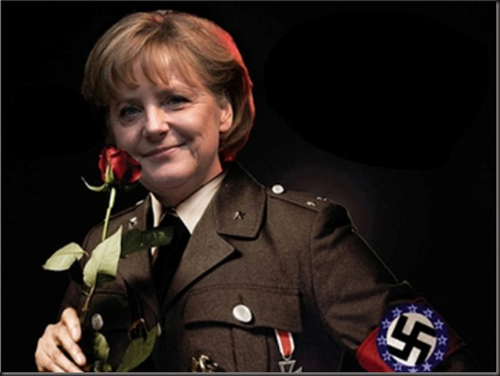 Merkel as Nazi - Greek poster