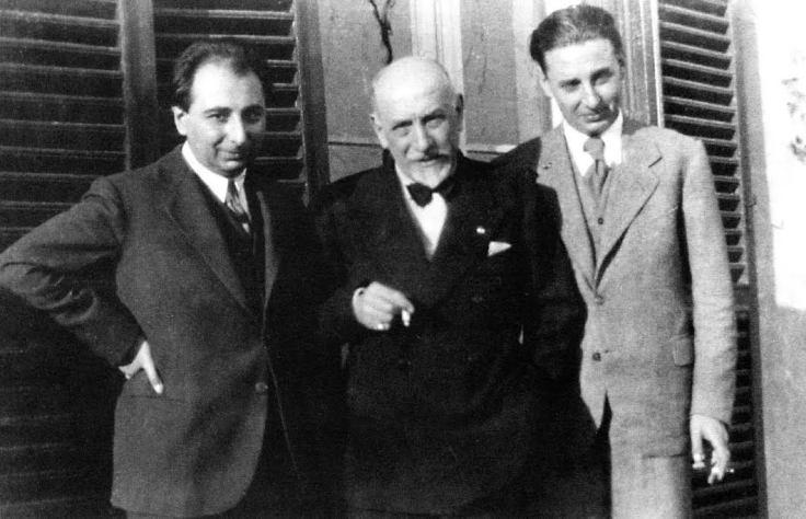 Luigi con Stefano e Fausto (Roma, 1931).
