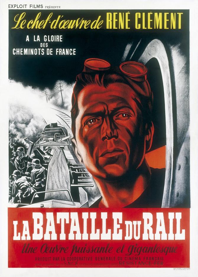 """Affiche de """" La Bataille du Rail """"."""