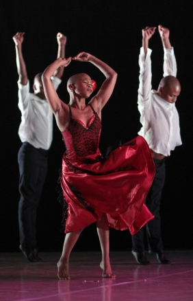 The Dance Factory presents Dada Masilo's 'Carmen'.The company is on a European tour visiting France, Luxembourg and Italy with their high energy African interpretation of the tragic classic.  Johannesburg. 05 September 2014 PHOTOGRAPH: John Hogg.