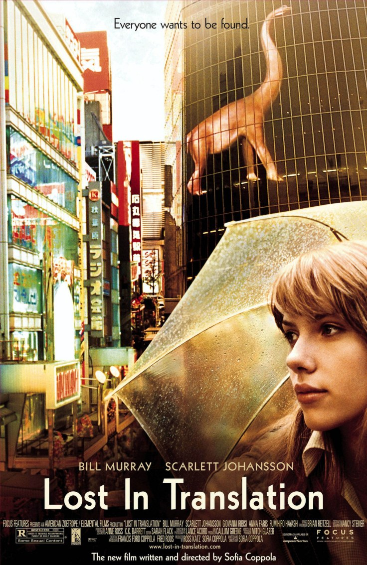 2003; Lost In Translation. Original Film Title: Lost In Translation, Director: Sofia Coppola, IN CAST: Bill Murray, Scarlett Johansson, Anna Faris, Giovanni Ribisi, Lance Acord Mandatory Credit: Photo by FOCUS FEATURES/ZUMA Press. (©) Copyright 2003 by FOCUS FEATURES.