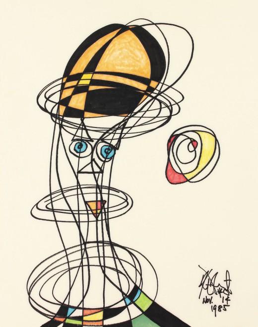 Kurt Vonnegut paintings