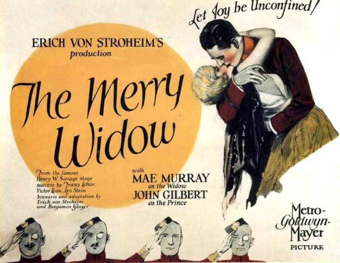 Poster - Merry Widow, The (1925)