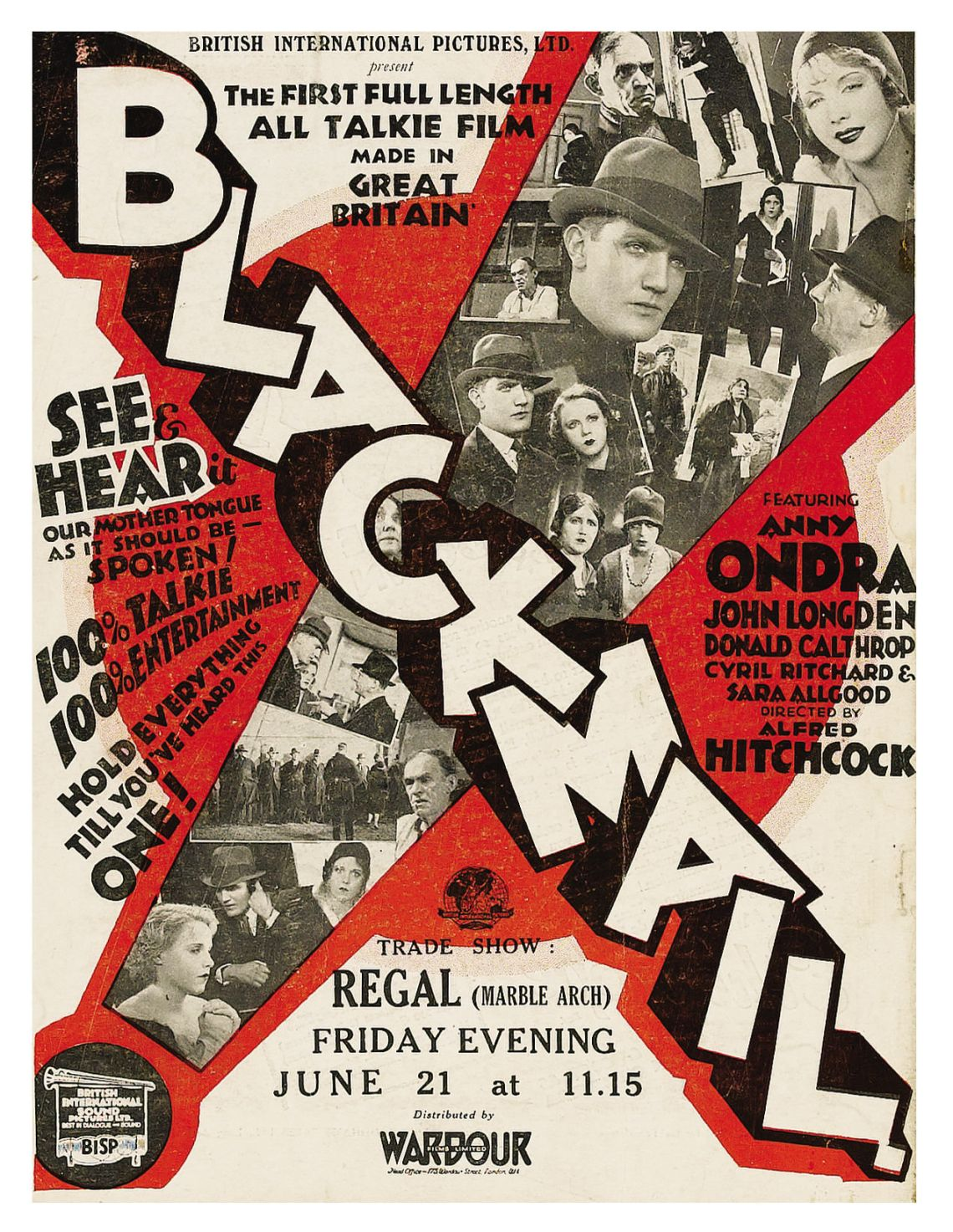 Poster - Blackmail (1929)_01